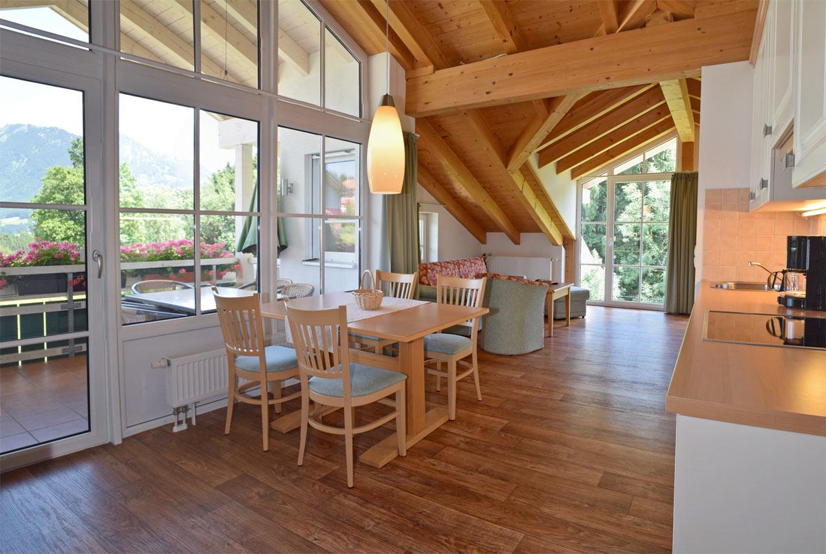 ferienwohnung typ 3 ferienwohnungen kanzelthal reiterhof schratt urlaub im allg u. Black Bedroom Furniture Sets. Home Design Ideas